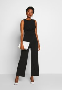 Anna Field - FRONT KNOT SOLID JUMPSUIT  - Mono - black - 1