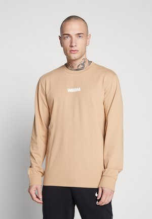 WAWWA UNISEX BASIC LOGO LONGSLEEVE - Long sleeved top - desert sand