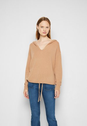 RELAXED HOODIE - Trui - camel