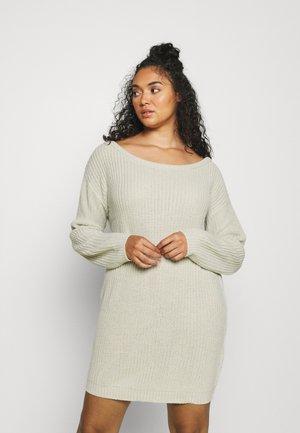 JUMPER DRESS - Gebreide jurk - light grey