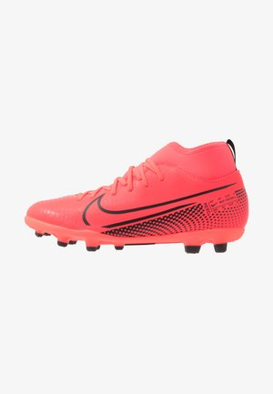 MERCURIAL 7 CLUB FG/MG - Moulded stud football boots - laser crimson/black/laser crimson