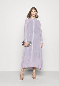 Monki - COLLINA DRESS - Blusenkleid - solid purple - 1