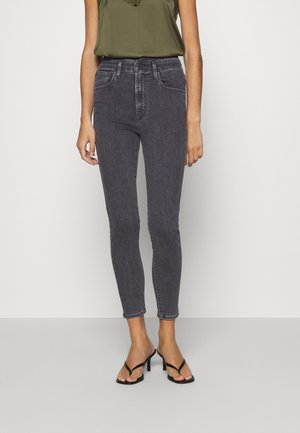MILE HIGH ANKLE WAIST - Skinny džíny - black denim