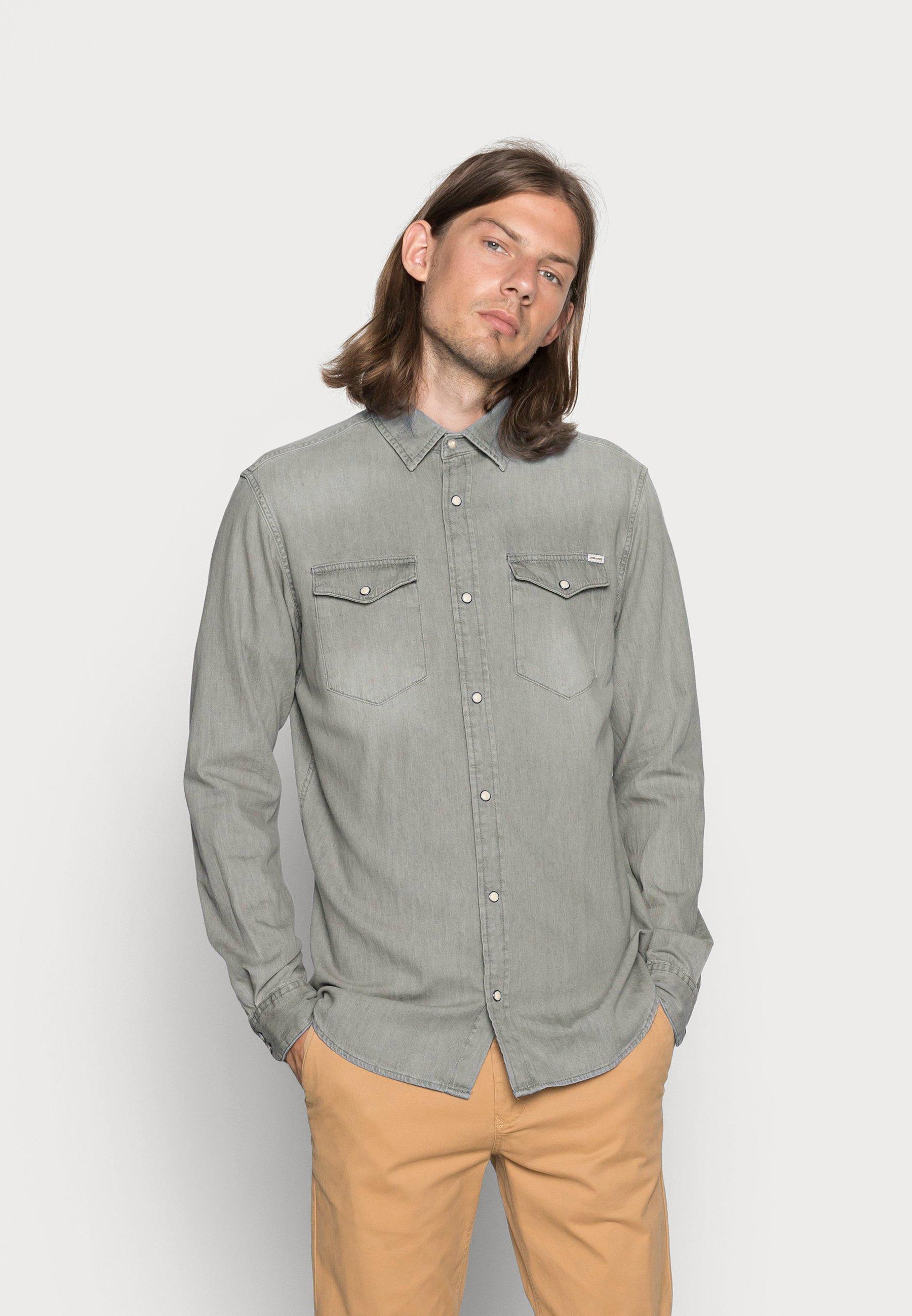 Herren JJESHERIDAN  - Hemd - light grey