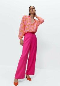 Uterqüe - Button-down blouse - multi coloured - 1