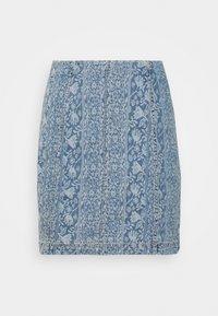 Free People - MODERN FEMME NOVELTY SKIRT - Mini skirt - indigo blue - 0