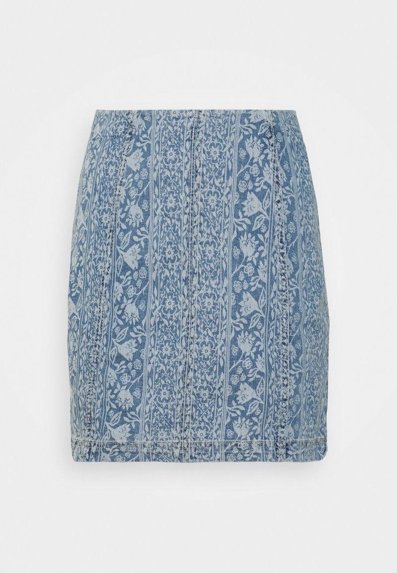 Free People - MODERN FEMME NOVELTY SKIRT - Mini skirt - indigo blue
