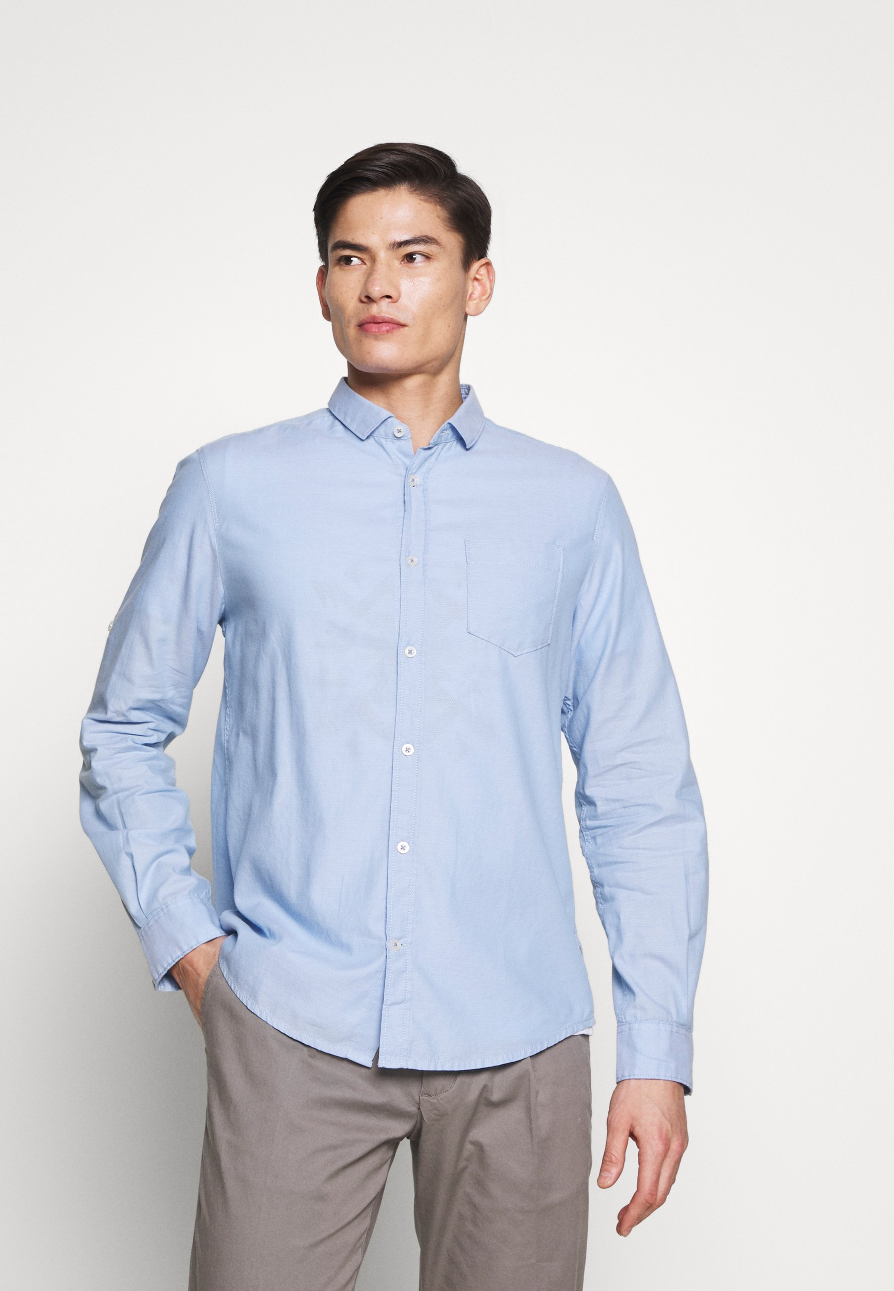 Homme RAY DOBBY SHIRT WITH ROLL UP - Chemise