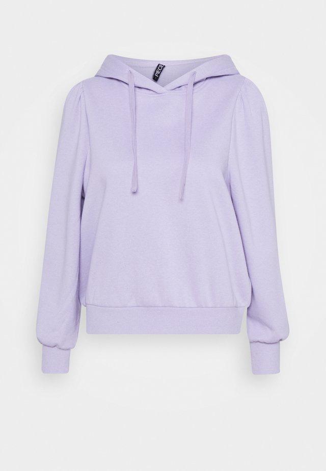 PCRIBBA LS HOODIE BC PETITE - Hoodie - purple heather