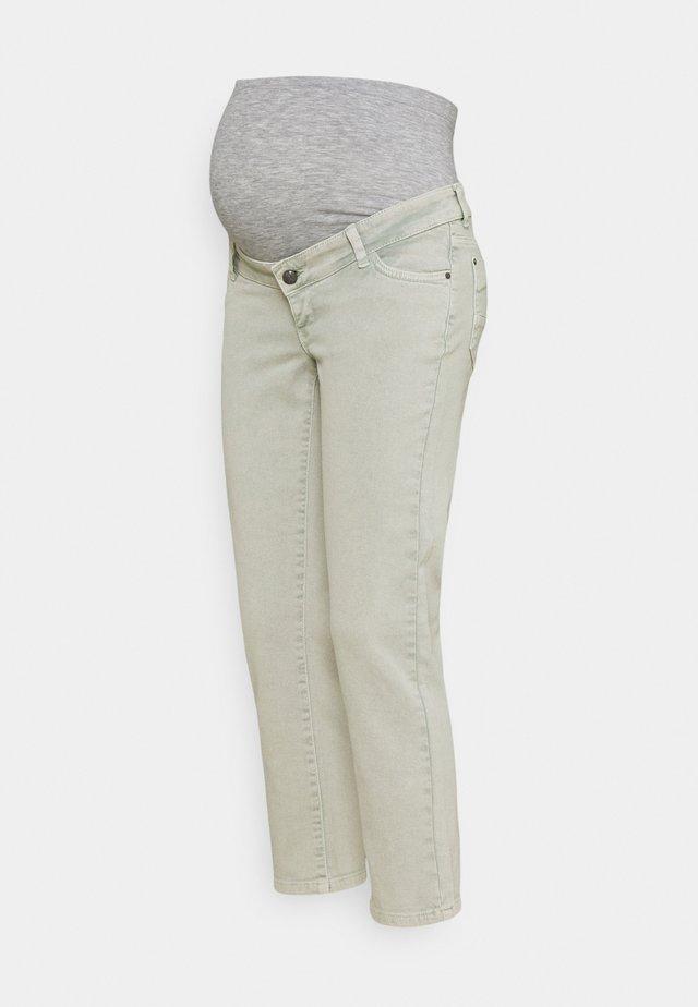 MLELKO CROPPED - Jeans Straight Leg - jadeite