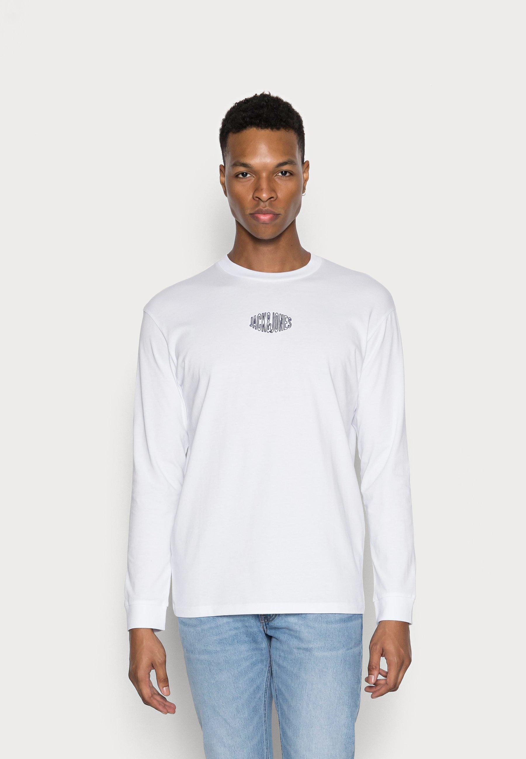 Men JORWORLDS TEE CREW NECK - Long sleeved top