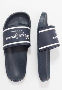 Pepe Jeans - SLIDER LOGO - Sandalias planas - navy - 0