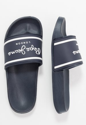 SLIDER LOGO - Matalakantaiset pistokkaat - navy