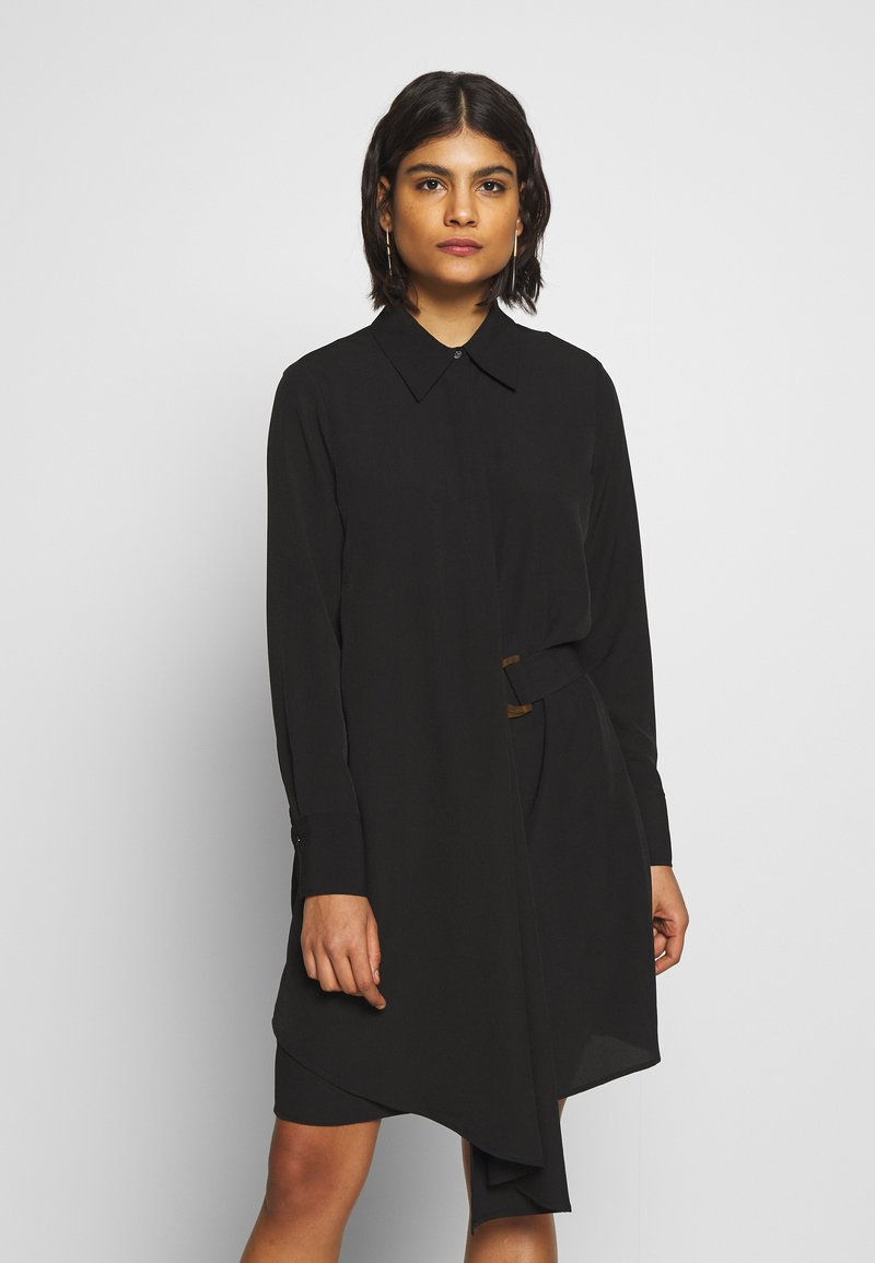 Sisley - DRESS - Shirt dress - black
