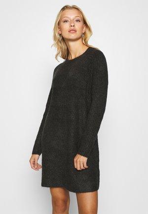 ONLCAROL  - Vestido de punto - dark grey melange