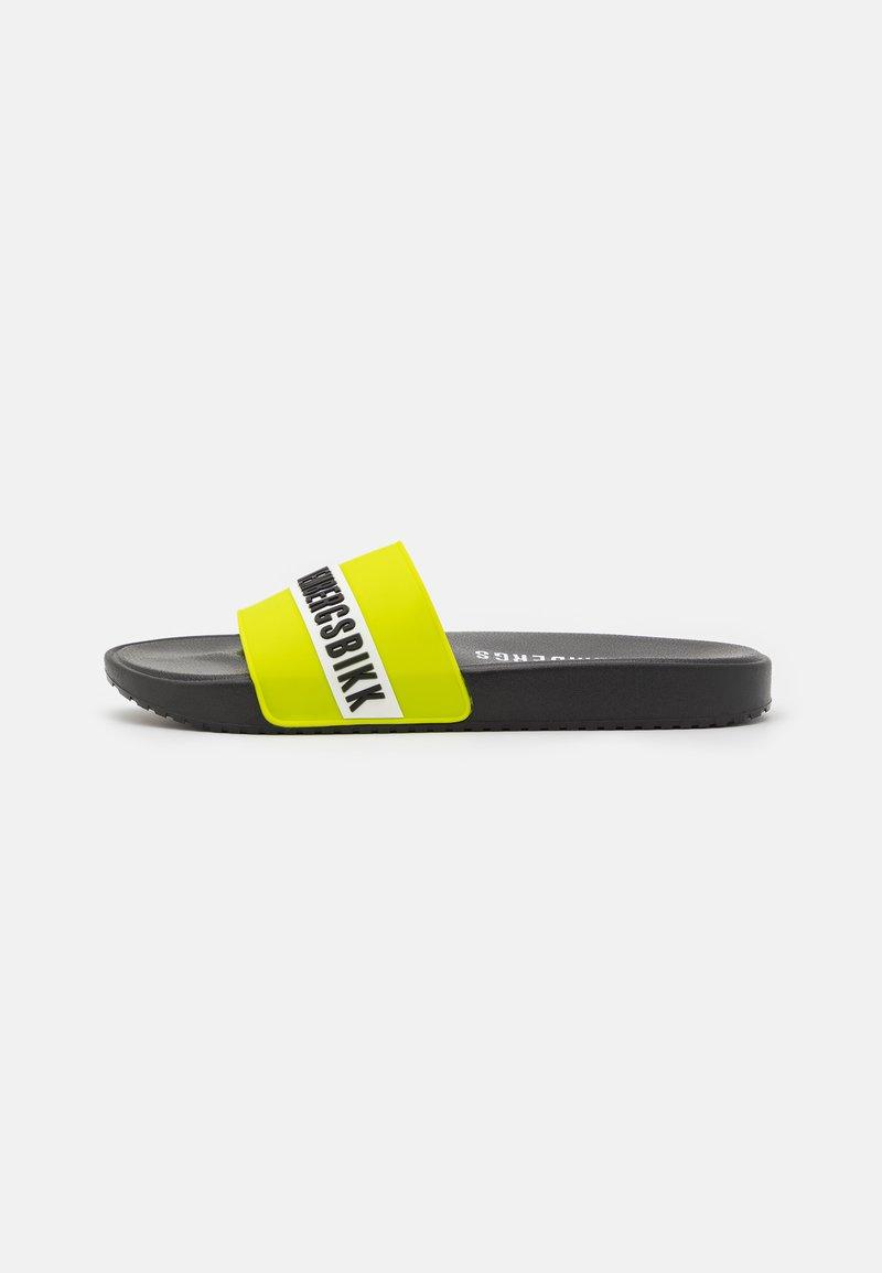 Bikkembergs - ROGER - Pool slides - black/lime