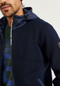 Ecoalf - Zip-up sweatshirt - azul - 3