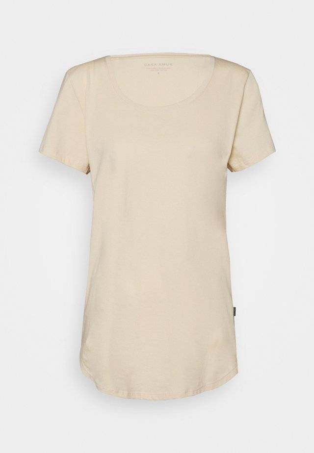 TALL TEE - Basic T-shirt - beige