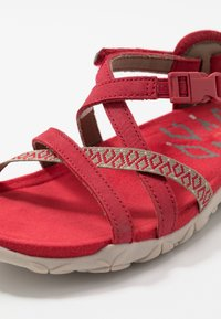 Merrell - TERRAN LATTICE II - Walking sandals - chili - 5