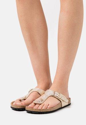 BRIONIA  - T-bar sandals - platinum