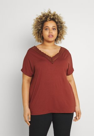 CARMULLA IN ONE - Basic T-shirt - roasted russet