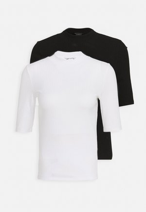 SABRINA 2 PACK - T-shirts - black/white