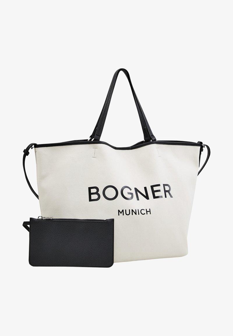 Bogner - LENK JANE - Tote bag - creme/schwarz