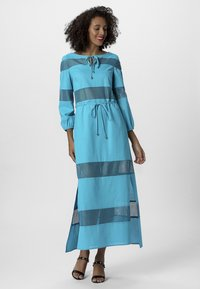 Apart - DRESS WITH INSERTS - Robe longue - petrol - 1