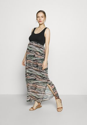 MAXIDRESS VOILE - Vestito di maglina - multi-coloured/black