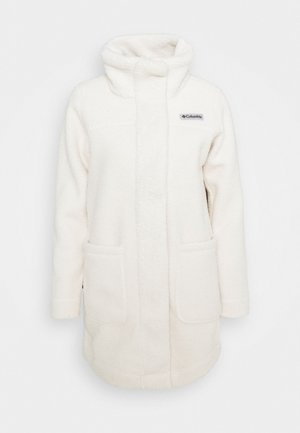 PANORAMA LONG JACKET - Forro polar - chalk
