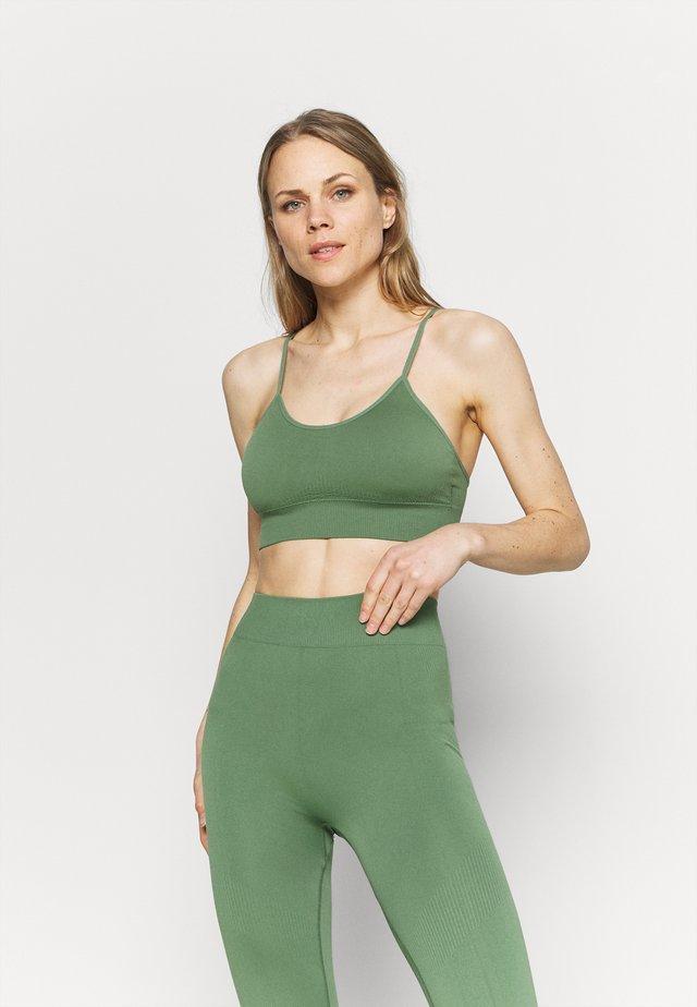 ELIANA - Sport-bh met light support - green