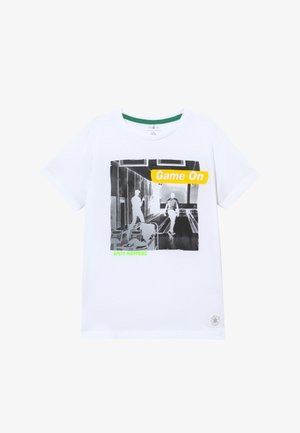 NKMTARIK - Print T-shirt - bright white