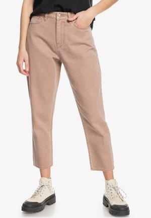 Straight leg jeans - mocha