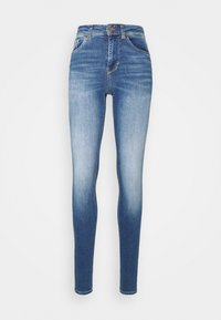 Vero Moda Tall - VMLUX SLIM JEANS - Džíny Slim Fit - medium blue denim - 3