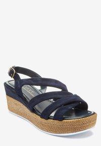 Next - SOFT KNOT - Wedge sandals - dark blue - 1