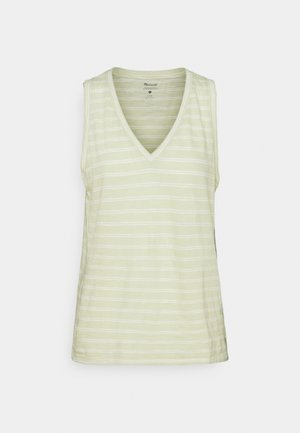 WHISPER SHOUT V NECK TANK - Top - faded seagrass/white