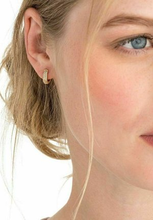 CHUNKY PAVE - Earrings - gold
