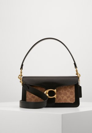 SIGNATURE TABBY - Across body bag - tan black