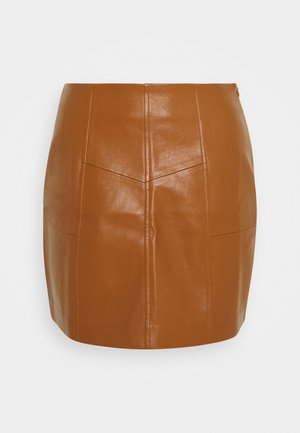 PANEL DETAIL MINI SKIRT - Spódnica mini - tan