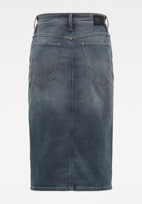 G-Star - NOXER NAVY PENCIL BUTTON - Denim skirt - worn in smokey night - 2