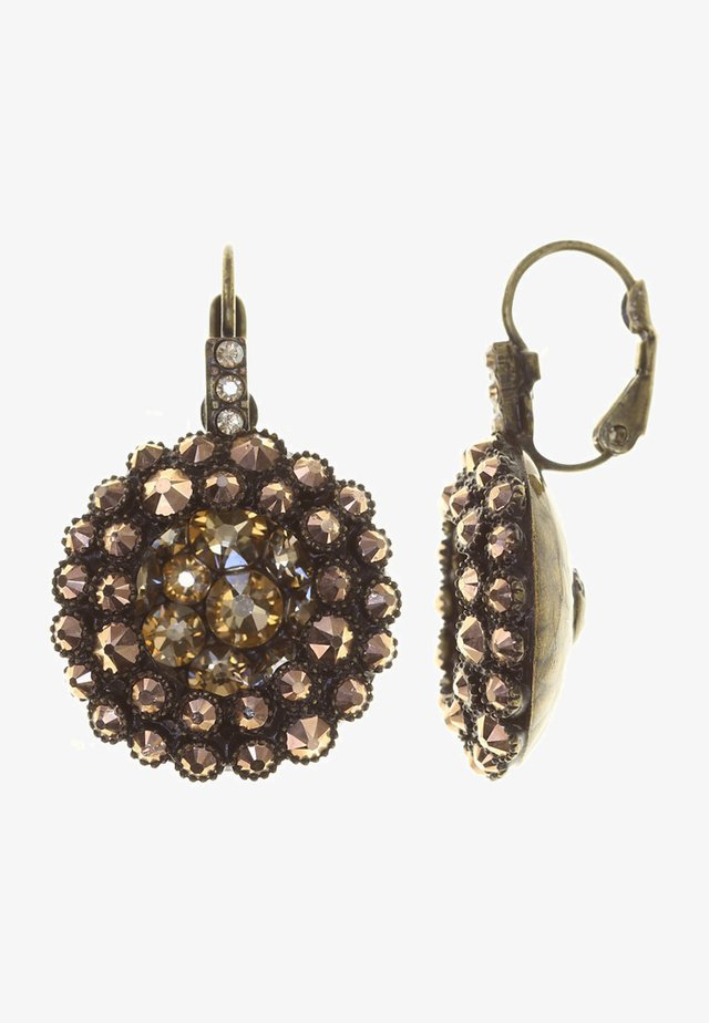 Earrings - beige