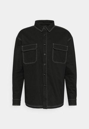 MIRROR CONTRAST STITCH SHIRT - Camicia - black