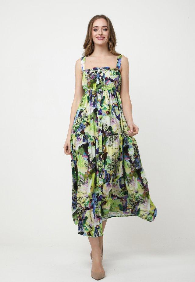 Robe longue - hellgrün/lila