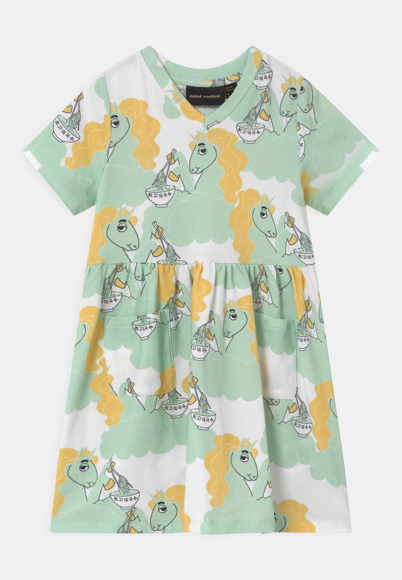 Mini Rodini - UNICORN NOODLES - Jerseykleid - green