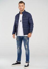 Jack & Jones - MIT STEHKRAGEN - Light jacket - navy blazer - 1