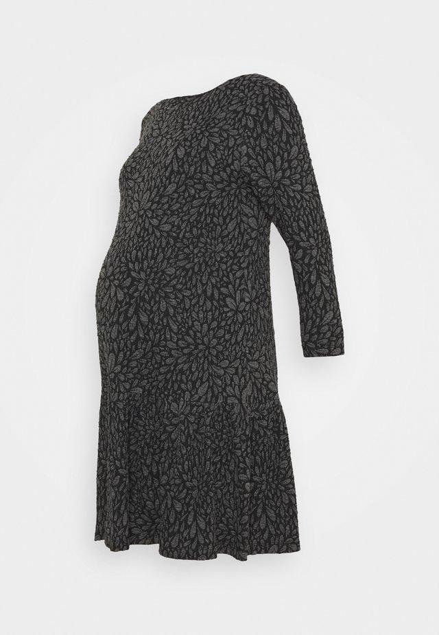 FIORI GOFFRATI - Robe en jersey - anthracite