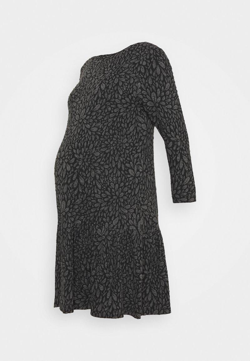 Attesa Maternity - FIORI GOFFRATI - Sukienka z dżerseju - anthracite