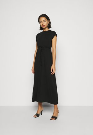 ROLL SLEEVE DRESS - Vestido largo - black