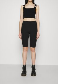 Weekday - MAURICE BIKER - Shorts - black - 0