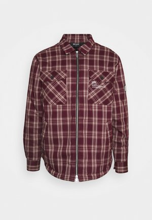 JACKET HENRY CHECKED UNISEX - Light jacket - red